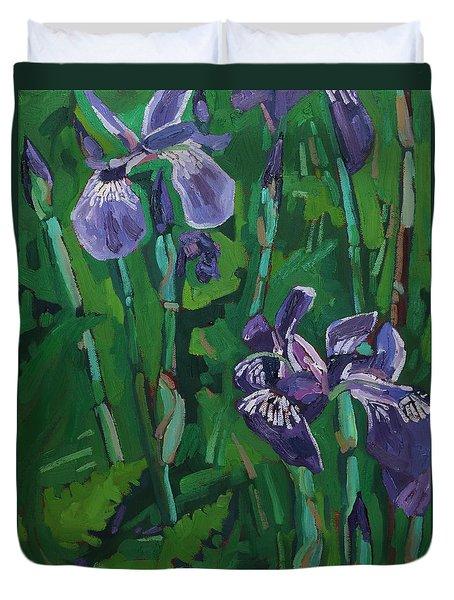 Wild Iris Duvet Cover
