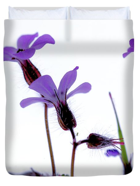 Wild Knotted Cranesbill Duvet Cover