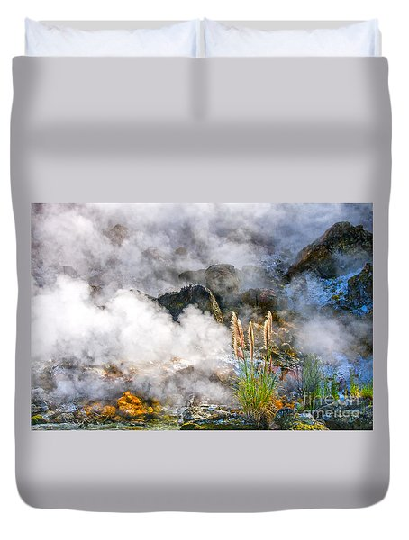 Wild Living Earth In New Zealand Duvet Cover by Patricia Hofmeester