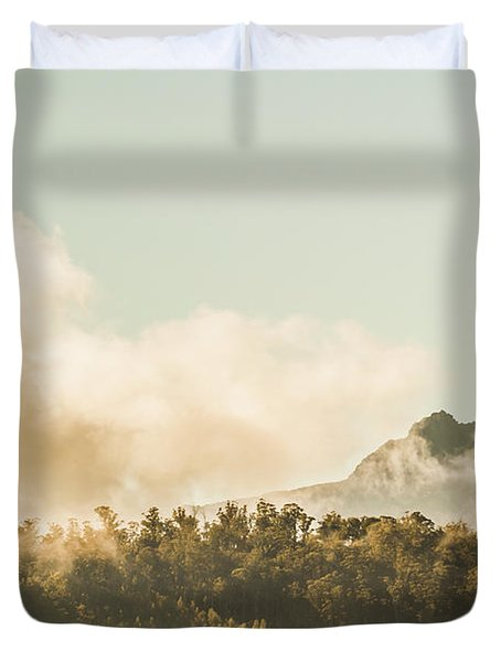 Wild Morning Peak Duvet Cover