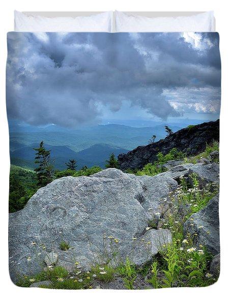 Wild Mountain Flowers Duvet Cover