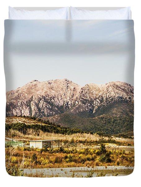 Wild Mountain Range Duvet Cover