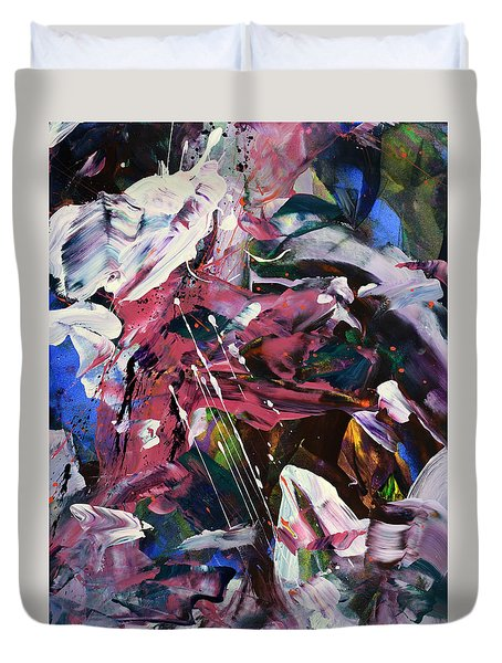 Wild Orchid Abstract Duvet Cover by Erika Pochybova