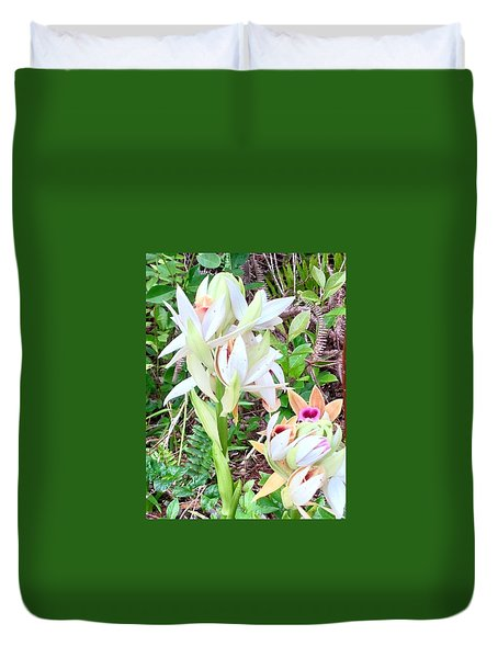 Wild Orchids In Pastel 2 Duvet Cover