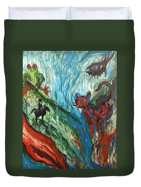 Wild Periscope Collaboration Duvet Cover