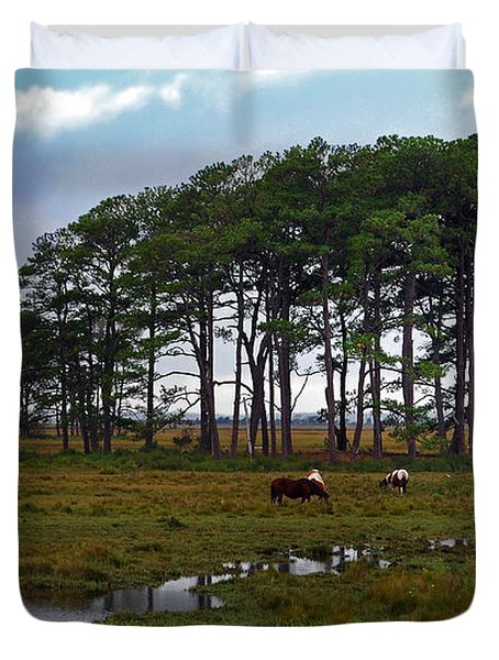 Wild Ponies Of Assateague Duvet Cover