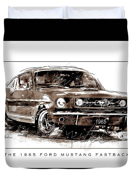 Wild Pony 65 Fastback Duvet Cover