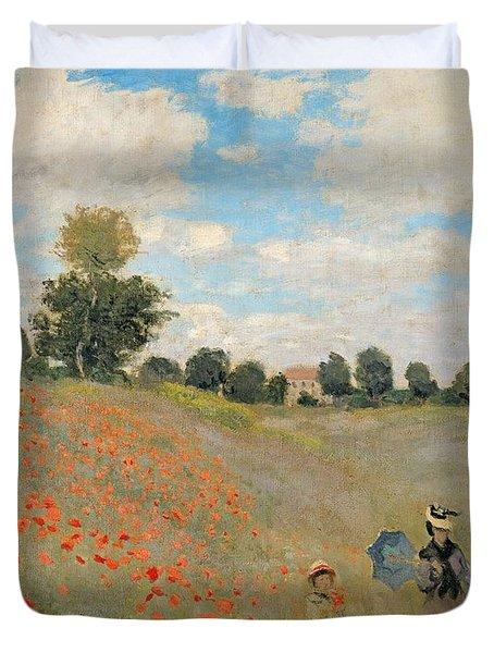 Wild Poppies Near Argenteuil Duvet Cover