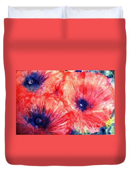 Wild Poppies Duvet Cover by Trudi Doyle