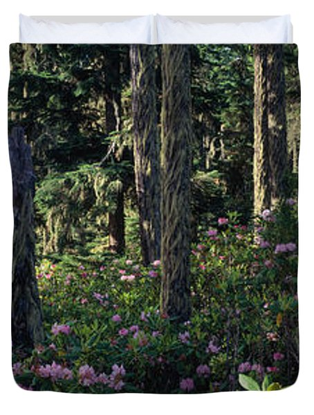 Wild Rhododendrons Mount Hood National Duvet Cover