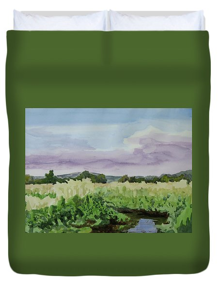 Wild Rice Field Duvet Cover by Bethany Lee