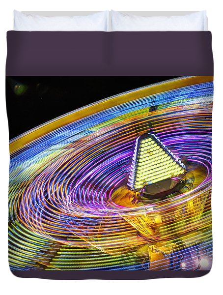 Duvet Cover featuring the photograph Wild Ride by John Swartz