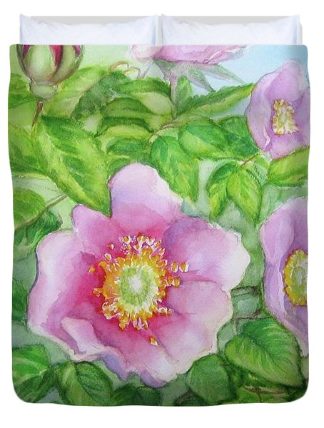 Wild Rose 3 Duvet Cover