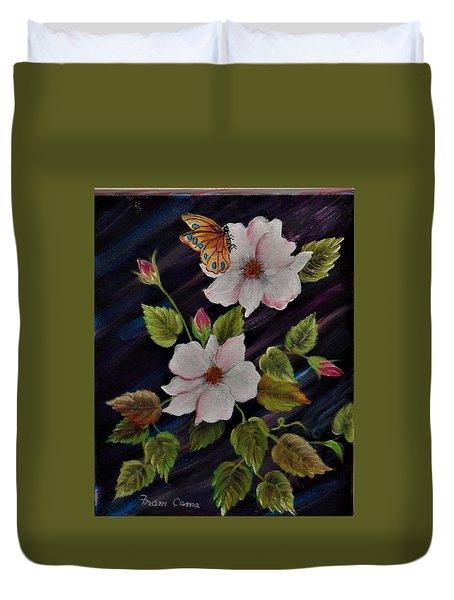 Wild.  Roses Duvet Cover