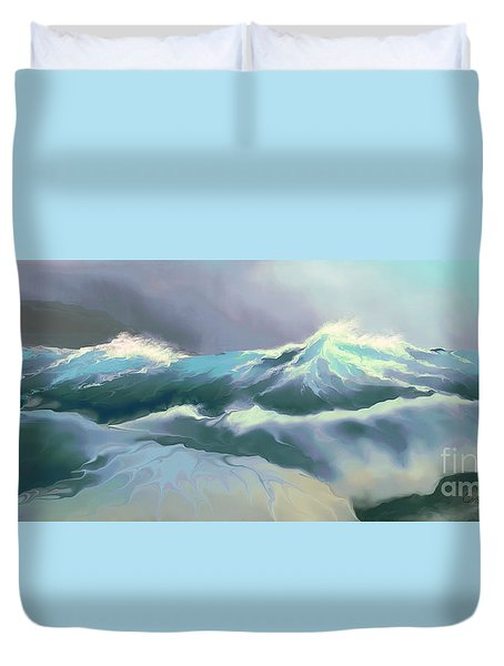 Wild Sea Duvet Cover by Corey Ford