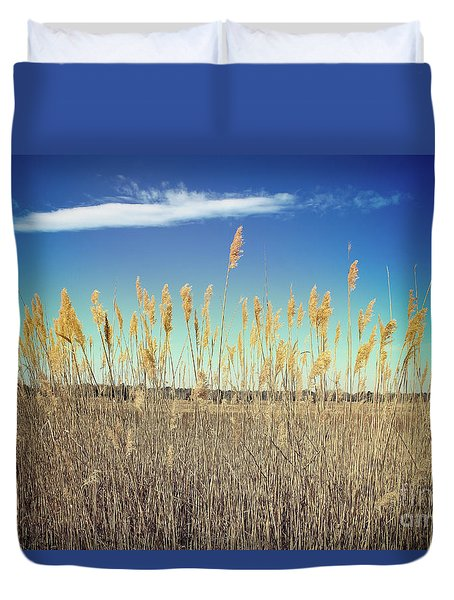 Duvet Cover featuring the photograph Wild Sea Oats by Colleen Kammerer