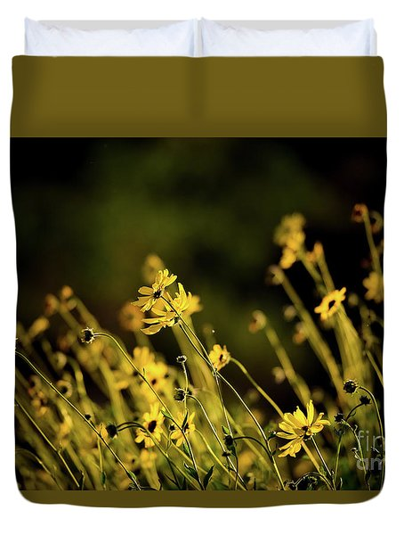 Duvet Cover featuring the photograph Wild Spring Flowers by Kelly Wade