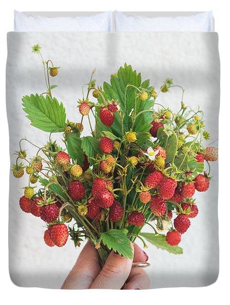 Wild Strawberries Duvet Cover