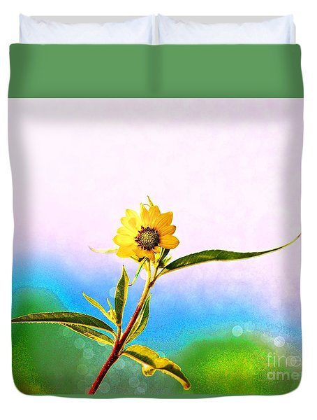 Duvet Cover featuring the photograph Wild Sunflower by Lila Fisher-Wenzel