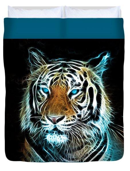 Duvet Cover featuring the digital art Wild Thang by Karen Showell
