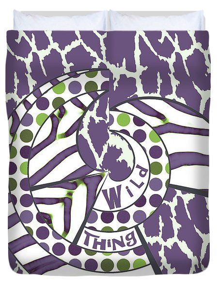 Duvet Cover featuring the digital art Wild Thing by Methune Hively