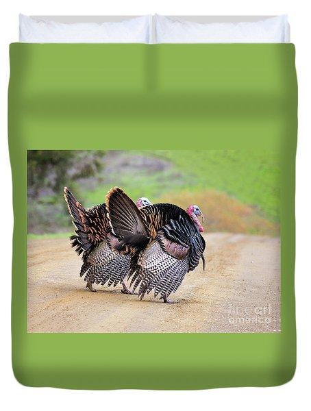 Wild Turkeys Duvet Cover