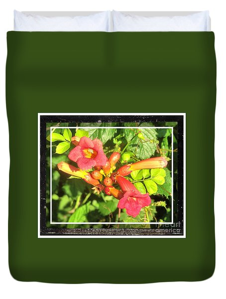 Wild Vine Red Duvet Cover