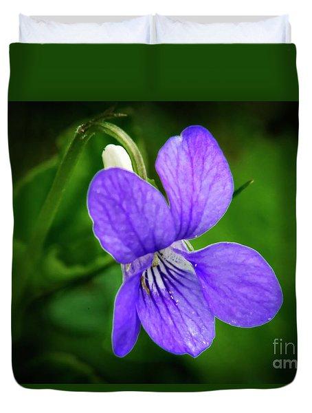 Wild Violet Flower Duvet Cover