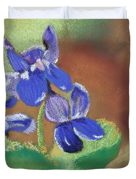Wild Violets Duvet Cover by Tracy L Teeter