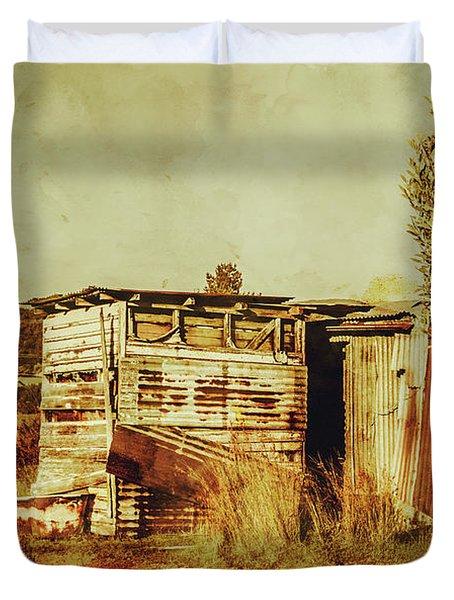 Wild West Australian Barn Duvet Cover