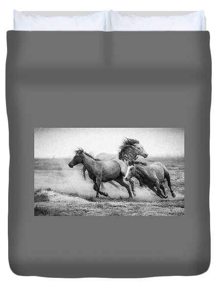 Duvet Cover featuring the photograph Wild West by Kelly Marquardt