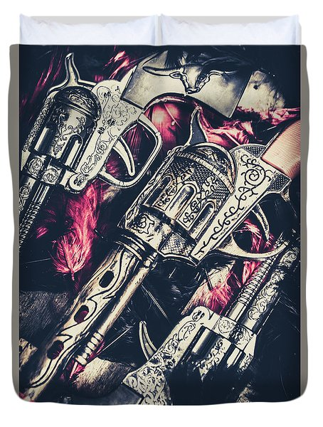 Wild West Weapons  Duvet Cover