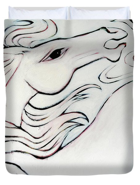 Wild White Duvet Cover