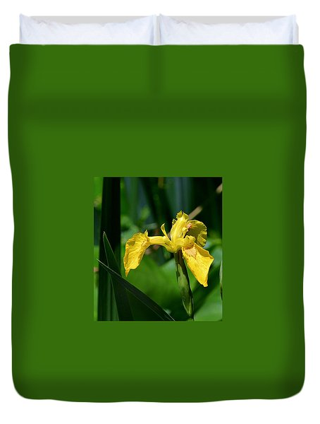 Wild Yellow Iris Duvet Cover