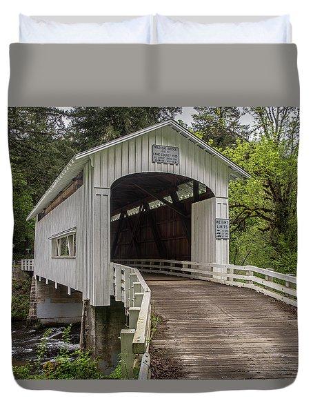 Wildcat Creek Bridge No. 1 Duvet Cover