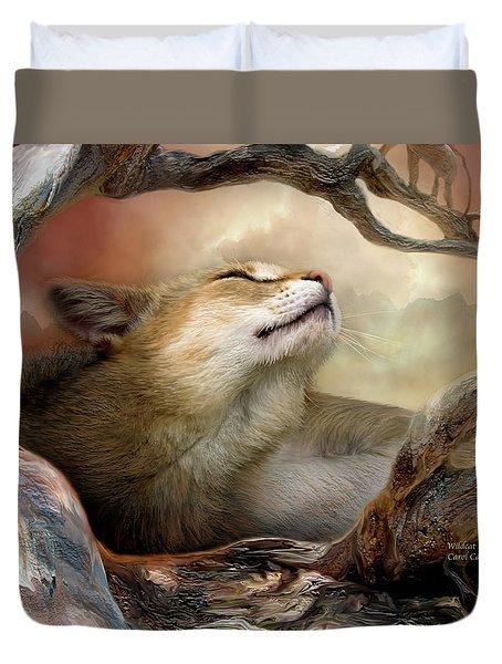 Wildcat Sunrise Duvet Cover by Carol Cavalaris
