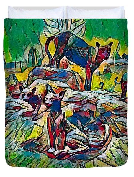 Wildcats Duvet Cover