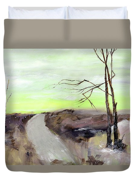 Duvet Cover featuring the painting Wilderness 2 by Anil Nene