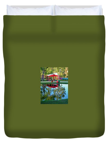Wilderness Canoe Duvet Cover