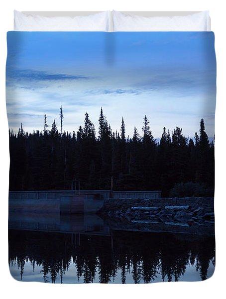Wilderness Forest Blues Duvet Cover