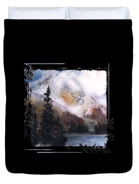 Wilderness Mountain Landscape Duvet Cover by Michele Carter