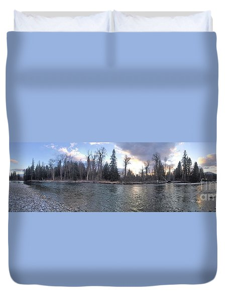 Duvet Cover featuring the photograph Wilderness by Victor K