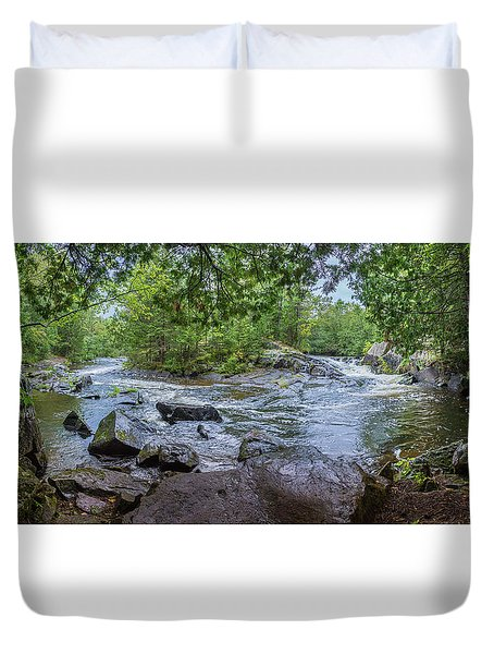 Duvet Cover featuring the photograph Wilderness Waterway by Bill Pevlor