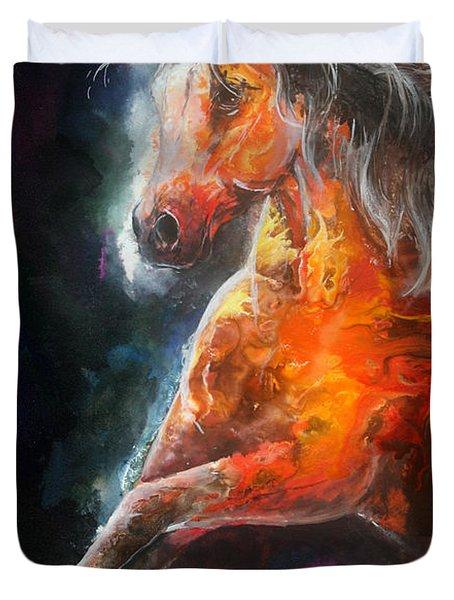 Wildfire Fire Horse Duvet Cover