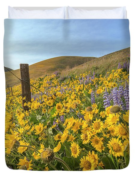 Wildflower Bonanza Duvet Cover