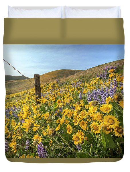 Wildflower Bonanza Duvet Cover