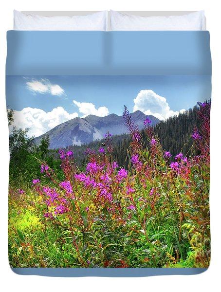 Wildflower Capital Duvet Cover