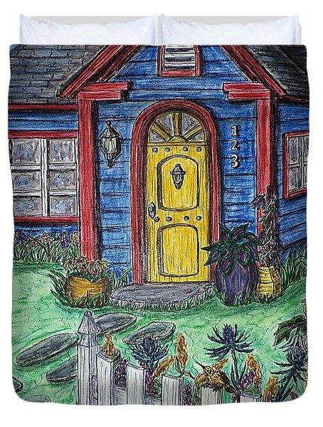 Wildflower Cottage Duvet Cover