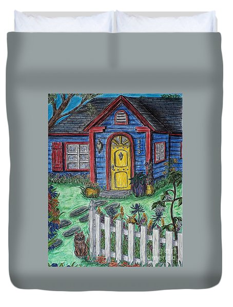 Wildflower Cottage Duvet Cover