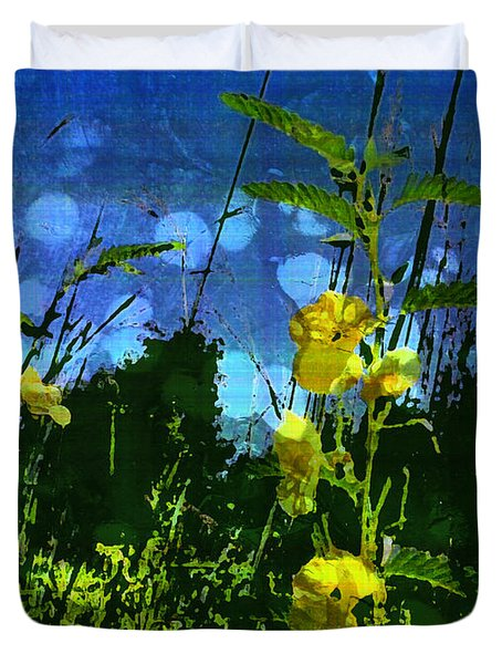 Duvet Cover featuring the photograph Wildflower Field by Shawna Rowe